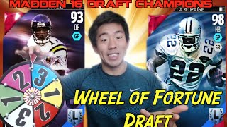 Wheel of Fortune Draft! Madden 16 Ranked Draft Champions