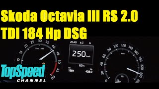 getlinkyoutube.com-Skoda Octavia III RS 2.0 TDI 184 Hp DSG acceleration 0-250 km/h