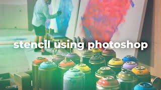 getlinkyoutube.com-Layered Stencil using Photoshop | Tutorial