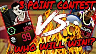 SHAQ VS YAO MING 3 POINTER CONTEST | THE MOST SHOCKING CONTEST EVER | NBA LIVE MOBILE