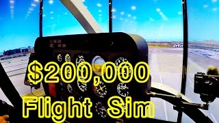 $200,000 Helicopter flight simulator