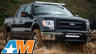 "getlinkyoutube.com-3.5L EcoBoost F-150 Gains 92HP & 113TQ: Intake/Tune, 2"" Lift, Armor, etc. – AmericanMuscle.com"