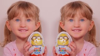 getlinkyoutube.com-[OEUF] Kinder Surprise Maxi Minion de Pâques - Unboxing Easter Kinder Surprise Maxi Minion Egg