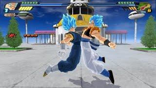 getlinkyoutube.com-Gogetto SSJGSSJ fusion (Potaras) VS Shenron Z Warrior (Dragon Ball Z Budokai Tenkaichi 3 mod)