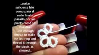getlinkyoutube.com-Frivolite-tatting lesson 113 - Union Riego - Riego join