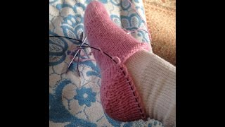 getlinkyoutube.com-Kako se plete peta na carapi - How to Knit a Sock Heel - drugi deo