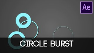 After Effects Circle Burst Explosion Tutorial