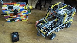 getlinkyoutube.com-LEGO Mindstorms - RC car with 5 speed gearbox