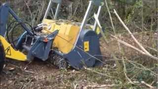 getlinkyoutube.com-SEPPI M. - MINIFORST skid steer - Forestry mulcher for loader/ fresa forestale per pale compatte