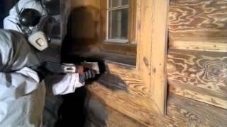 Sodowanie / piaskowanie: domów z drewna