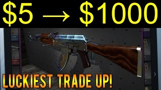getlinkyoutube.com-LUCKIEST CS:GO Trade Up Ever! ($5 to $1000 - 1/20,000 Chance!)