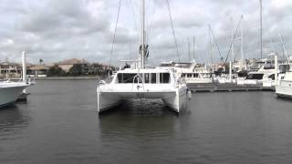getlinkyoutube.com-New Leopard 44 catamaran maneuvering in breezy tight quarters
