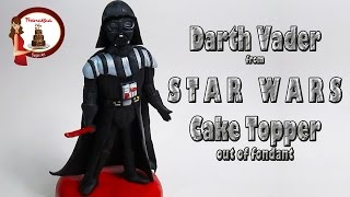 """How to make Darth Vader from """"Star Wars"""" out of fondant Cake Topper"""