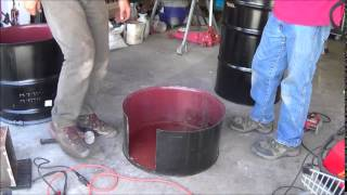 getlinkyoutube.com-Building a rocket stove biochar/charcoal kiln