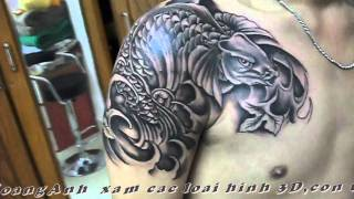 getlinkyoutube.com-TATTOO XamNgheThuat HOANGANH  DT;0909811477 ,1Tac Pham  Ca Koi Cua  Hoanganhtattoo video 1.mpg