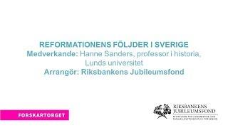 Forskartorget 2017 - Reformationens följder i Sverige