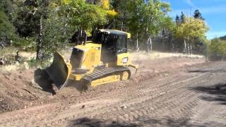 getlinkyoutube.com-Dozer cutting hill and taking out tree