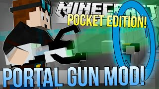getlinkyoutube.com-Minecraft Pocket Edition | PORTAL & GRAVITY GUN MOD! | Mod Showcase
