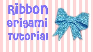 getlinkyoutube.com-Cara Membuat Pita Origami | Ribbon Origami Tutorial