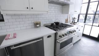 getlinkyoutube.com-Interior Design — Crisp, Clean & Narrow Brooklyn-Style Galley Kitchen Renovation