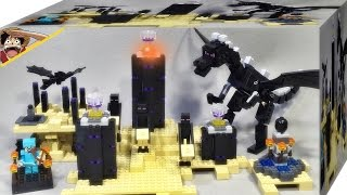 getlinkyoutube.com-bela 마인크래프트 마이크로월드 엔더드래곤 중국 짝퉁 레고 21117 조립 리뷰 LEGO knockoff Minecraft The Ender Dragon