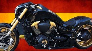 "getlinkyoutube.com-Suzuki Intruder M1800R | Boulevard M109R ""Golden Fury"" by Free Kustom Cycles | Motorcycle Muscle"