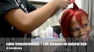 getlinkyoutube.com-SALON WORK | COLOR TRANSFORMATION + SILK BLOWOUT ON NATURAL HAIR