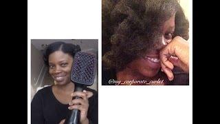 getlinkyoutube.com-Product Review: Revlon Pro Blow Dryer Brush on Natural Hair