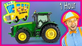 Videos for Toddlers - Learn Numbers and Alphabet with Animals & Tractors. 1 Hour!