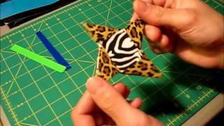getlinkyoutube.com-Mini tutorial - Duct tape Ninja star (Method 2)
