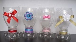 getlinkyoutube.com-Episodio 659 - Cómo hacer una copa con una botella de refresco reciclada - manualidadesconninos