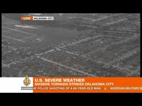 Powerful tornado hits US state of Oklahoma