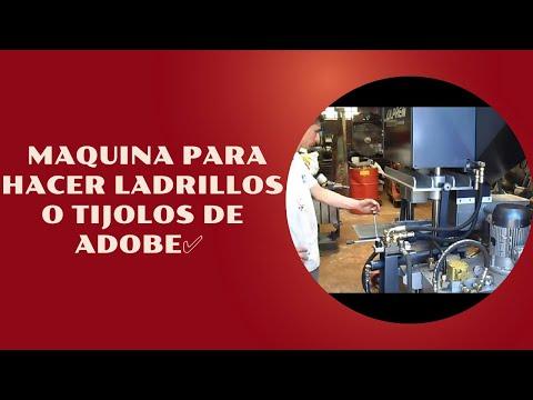 maquina para hacer ladrillos o tijolos de adobe