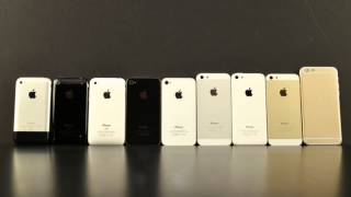 apple iphone 6 vs 5s vs 5c vs 5 vs 4s vs 4 vs 3gs vs 3g vs 2g
