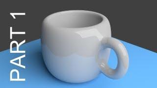 Blender Tutorial For Beginners: Coffee Cup - 1 of 2