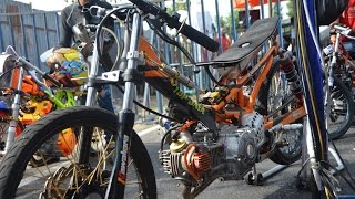 getlinkyoutube.com-AHRS Drag Bike Jupiter TU 200 cc Pells King drag championship  AHRS  series 4 bantul
