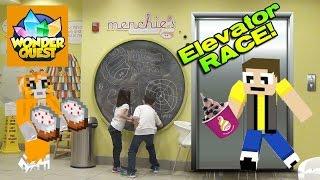 getlinkyoutube.com-ELEVATOR RACE!!! Recording Stampy's Wonder Quest & Menchie's Frozen Yogurt