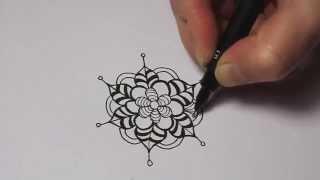 getlinkyoutube.com-Nature Zentangles: Flower #2