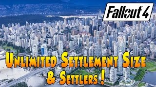 getlinkyoutube.com-Fallout 4 - Unlimited Settlement Size and Settlers