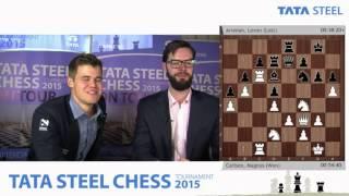 getlinkyoutube.com-Magnus Carlsen analysis his win against Levon Aronian - Tata Steel Chess Tournament 2015