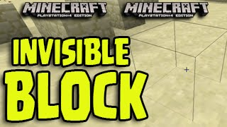 getlinkyoutube.com-Minecraft (PS3, PS4, Xbox, Wii U) - Invisible Block + Wall Glitch! NEW Tutorial!