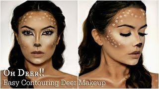 getlinkyoutube.com-Easy Deer Makeup Tutorial | Halloween 2016