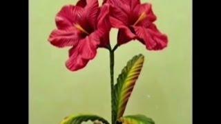 getlinkyoutube.com-Mega Flores - Flores em EVA -  AMARÍLIS (passo a passo)