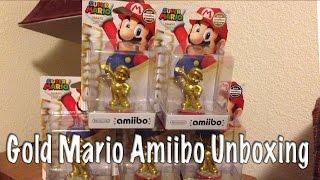 getlinkyoutube.com-Gold Mario Amiibo Unboxing