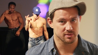 Channing Tatum Dances at Prank Magic Mike XXL Screening // Omaze