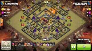 getlinkyoutube.com-10홀 완파 골위발 4지진 노아이스 글래머 발키리 coc 클래시오브클랜 Clash of clans -TH 10 war 3 STAR Attack Full-Defense GOWIVAL