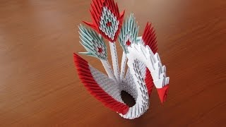 3D Origami Peacock Tutorial