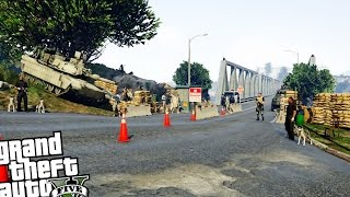 getlinkyoutube.com-Army Base Checkpoint - GTA 5 PC MOD