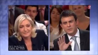 Manuel Valls RIDICULISE par Marine Le Pen gros clash !!!