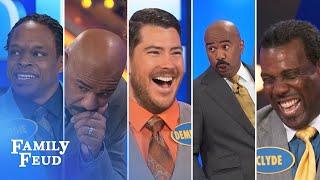 getlinkyoutube.com-2015's Top 5 Steve Harvey Funny Moments | Family Feud